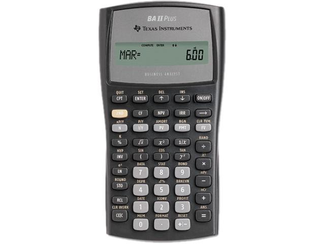 Texas Instruments BAIIPLUS BAIIPlus Financial Calculator, 10-Digit LCD