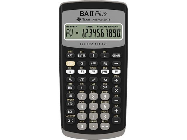 Image of Texas Instruments BAII PLUS Financial Calculator