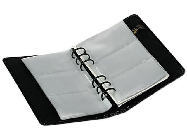 samsill 81270 regal leather business card binder holds 120