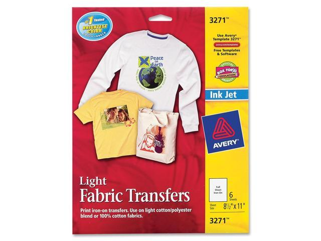 graphic relating to Printable Iron on Transfers called AVERY 3271 T-blouse Transfers for Inkjet Printers 8-1/2\