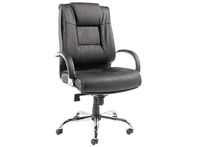 Alera ALERV44LS10C Alera Ravino Big & Tall Series High-Back Swivel/Tilt Leather Chair, Black