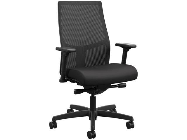 HON Crio High-Back Big and Tall Chair - Fabric Mesh Back Computer Chair for Office Desk,  Black (HVL581)