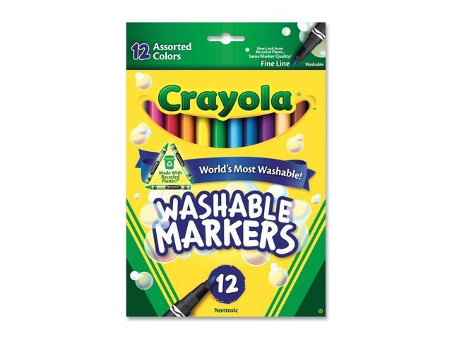 crayola 58 7813 washable markers fine point classic colors 12 set