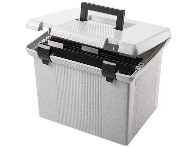 Pendaflex 41747 Portafile File Storage Box, Letter, Plastic, 14-7/8 x  12-1/8 x 11-7/8, Granite - Newegg com
