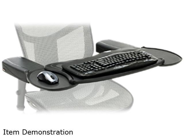 Mobo Mecs Blk 001 Chair Mount Ergo Keyboard And Mouse Tray System Newegg Com