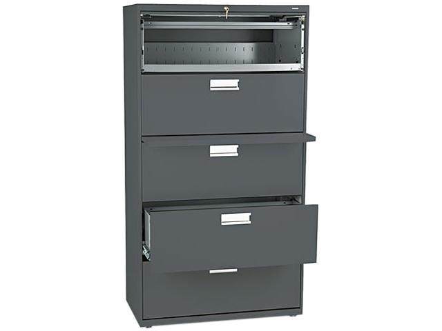 Hon 685ls 600 Series Five Drawer Lateral File Charcoal Newegg Com