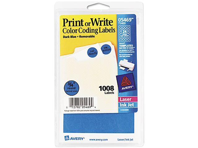 3//4in dia Sold as 1008 Each 1008//Pack Print or Write Removable Color-Coding Labels Light Blue