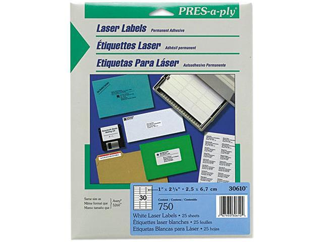 avery 30610 pres a ply laser address labels 1 x 2 5 8 white 750