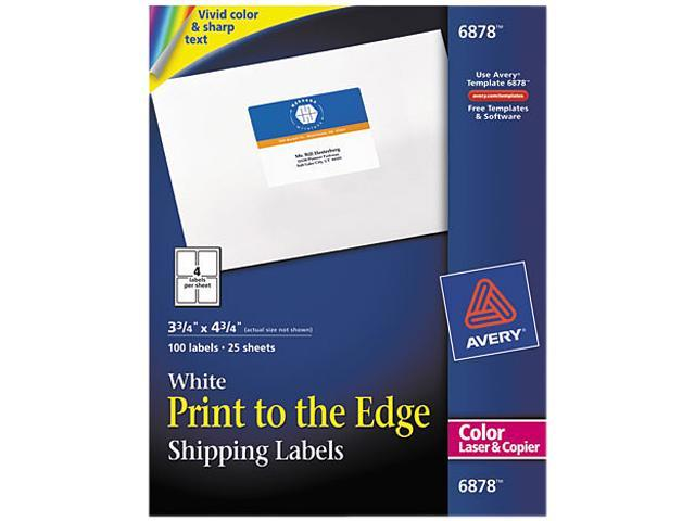 avery 6878 shipping labels for color laser copier 3 3 4 x 4 3 4