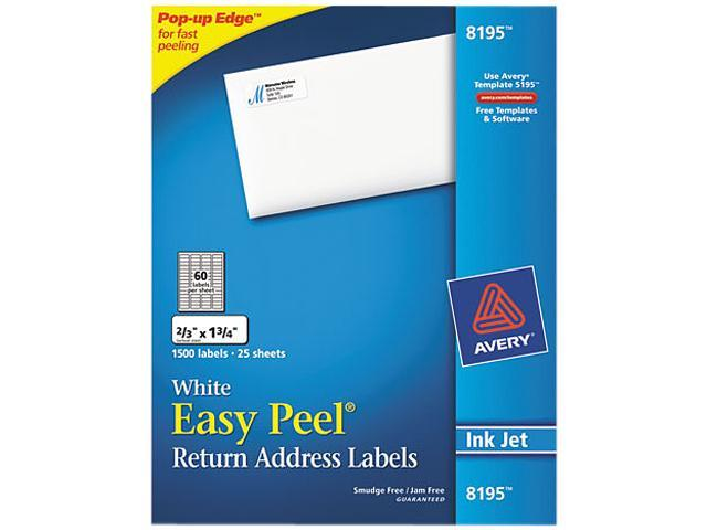 Avery 8195 Easy Peel Return Address Label 1.75\