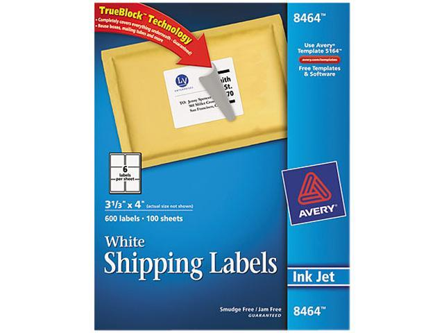 avery 8464 shipping labels with trueblock technology 3 1 3 x 4
