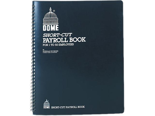 Dome 650 Payroll Record, Single Entry System, Blue Vinyl Cover, 8 3/4 x11  1/4 Pages - Newegg com