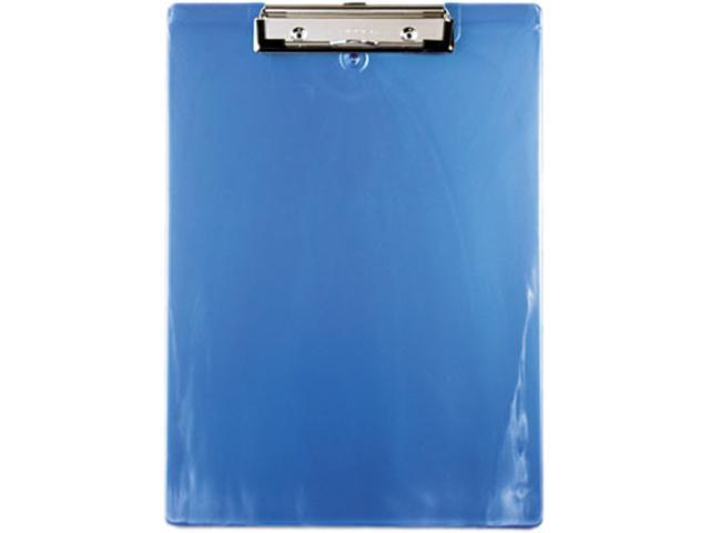 """1/"""" Capacity Holds 8-1//2w x 12h Saunders Plastic Antimicrobial Clipboard Blue"""