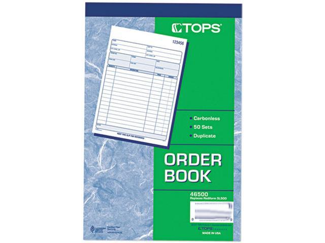 Tops 46500 Sales Order Book, 5-1/2 x 7-7/8, Two-Part Carbonless, 50  Sets/Book - Newegg com