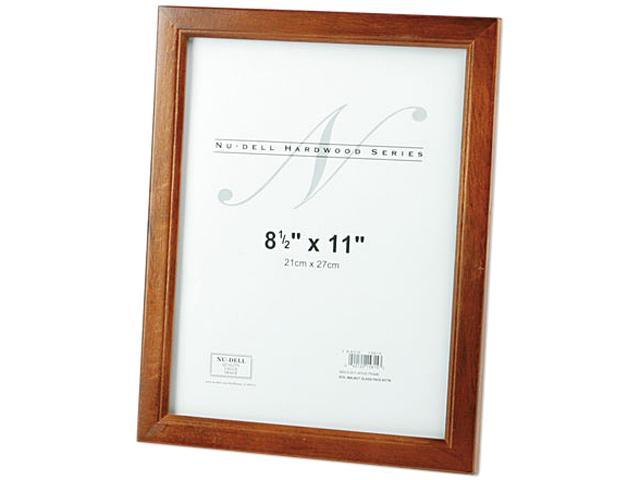 Nu Dell 15815 Solid Oak Hardwood Frame 8 12 X 11 Walnut Neweggcom