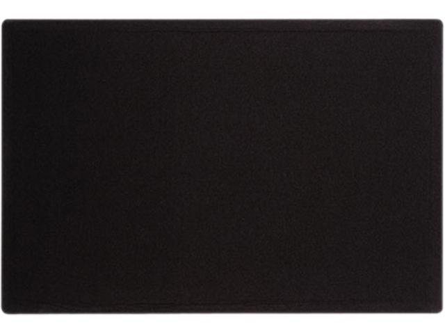 Quartet 7683BK Oval Office Fabric Bulletin Board, 36 X 24, Black