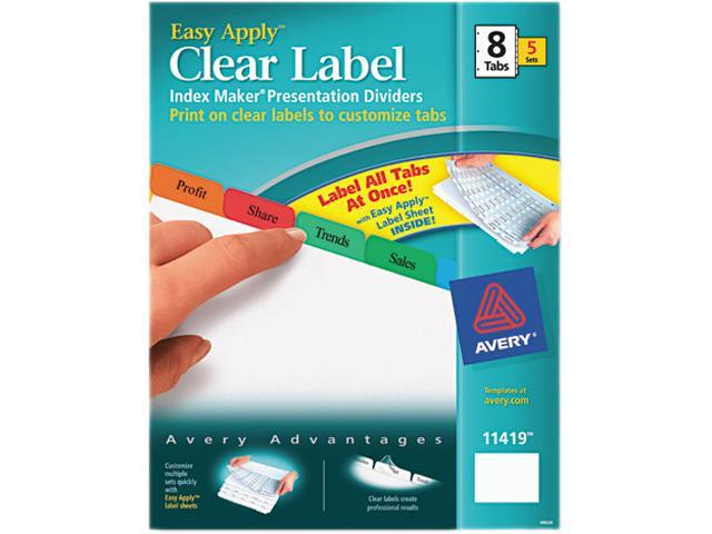 index maker laser inkjet 8 tab 5 set 8 1 2 x11 multi ave11419