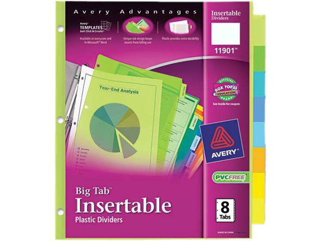 Insertable Tab Dividers Plastic 8 Tab Multi Ave11901 Newegg