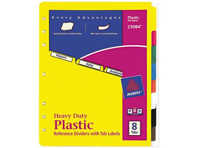 8 Tab Divider Labels: Avery Index Maker Clear Label Dividers