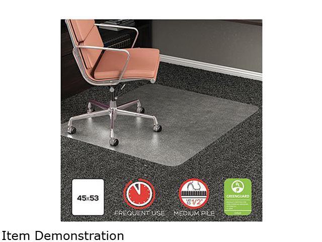 Deflecto Cm15242com Rollamat Frequent Use Chair Mat For High Pile Carpet 45 00 X 53 00 Clear Newegg Com