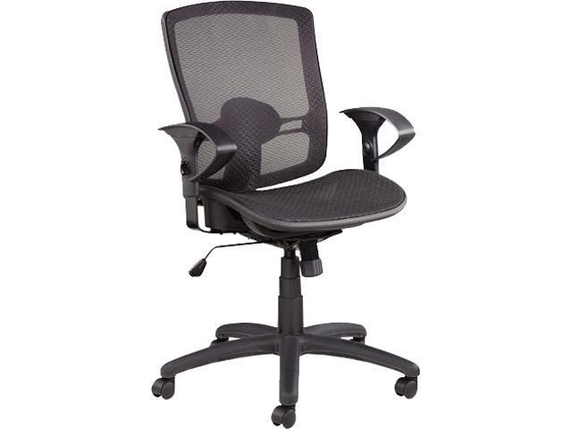 Alera ALEET4218 Etros Series Mesh Mid Back Synchro Tilt Chair, Mesh  Back/Seat, Black