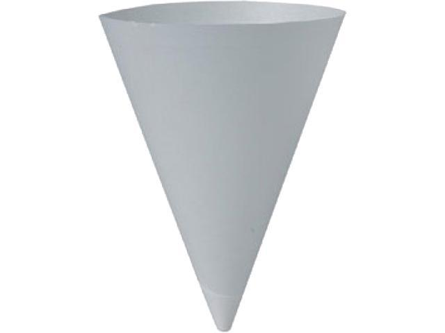 Solo Cup SCC 156BB Dart Bare Treated Paper Cone Water Cups, 7 oz., White, 250Bag, 20 BagsCartons (5000 Cups)