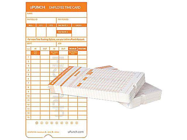 free shipping on this item - Upunch Time Cards