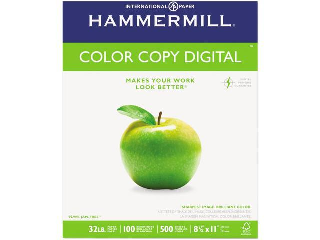 Hammermill 10263-0 Color Copy Paper, 98 Brightness, 32lb, 8-1/2 x 11, Photo  White, 500/Ream - Newegg com