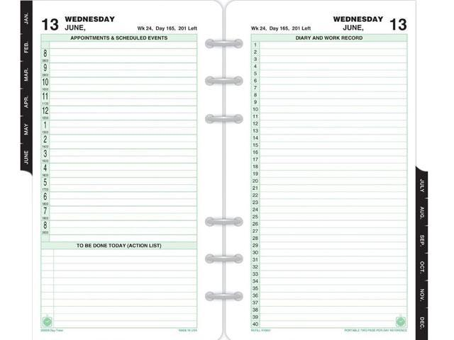 photo regarding Daily Planner Page identify Working day-Timer 2 Webpages Each day Planner Refill, Julian - Day-to-day - 1 Yr - January 2016 until December 2016 - 1 Working day Double Website page Design - 3.75\