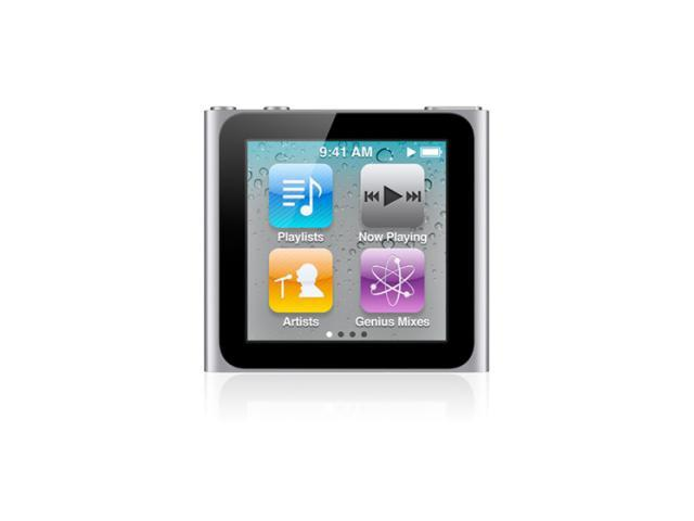 apple mc525ll a 8gb ipod nano 6th gen silver newegg com rh newegg com Apple iPhone Support www.apple.com/support/manuals/ipodnano uk