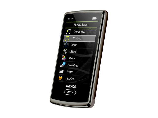 archos 3 vision 8gb mp3 mp4 player 501338 chocolate brown rh newegg com  Archos 28 Internet Tablet