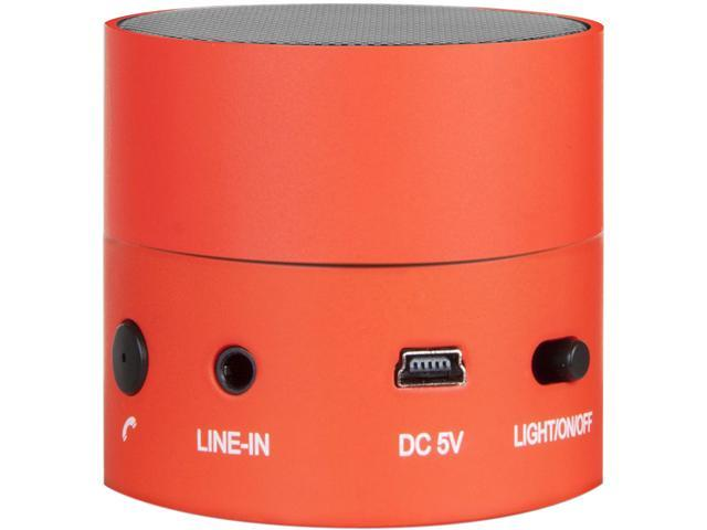 iSound Fire Waves Bluetooth Speaker with microphone and changing LED light effects red