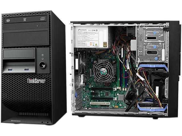 Lenovo ThinkServer TS150 70UB000AUX 4U Tower Server - 1 x Intel Xeon  E3-1225 v6 Quad-core (4 Core) 3 30 GHz - 8 GB Installed DDR4 SDRAM - Serial