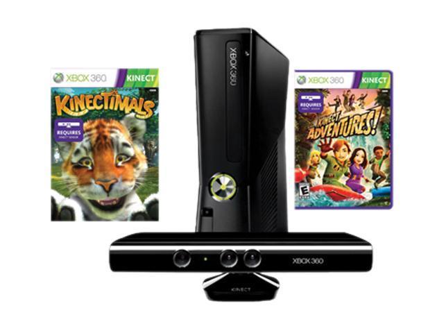 Microsoft XBOX 360 4GB Kinect Bundle w/Kinectimals and Kinect Adventures -  Newegg com