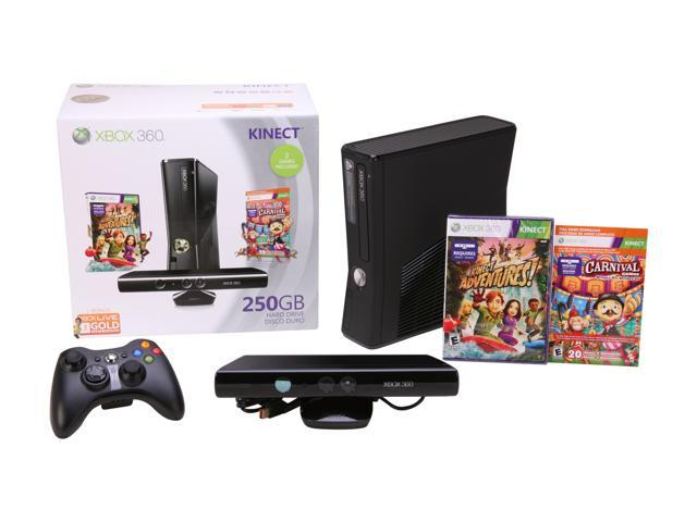 Microsoft XBOX 360 250GB Kinect Holiday Bundle 250 GB Hard Drive Black Xbox  360 Consoles - Newegg com