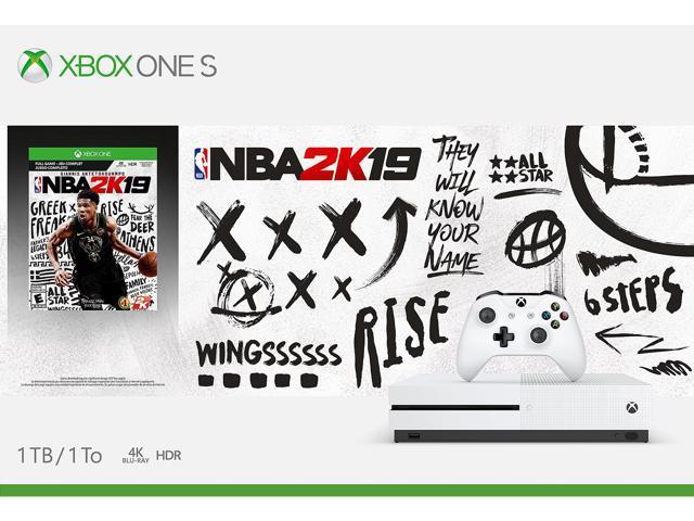 Xbox One S 1TB Console - NBA 2K19 Bundle - Newegg com