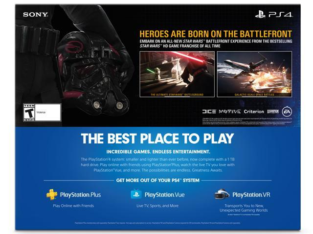 PlayStation 4 Slim 1TB Console - Star Wars Battlefront II Bundle -  Newegg com
