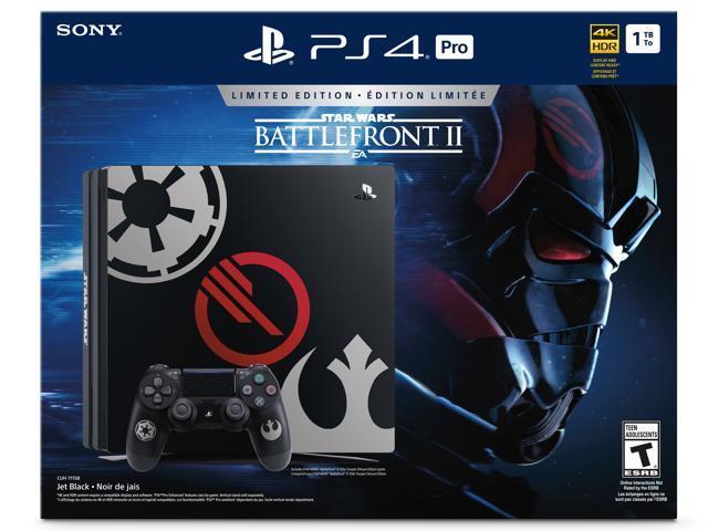PlayStation 4 Pro 1TB Limited Edition - Star Wars Battlefront II Bundle -  Newegg com