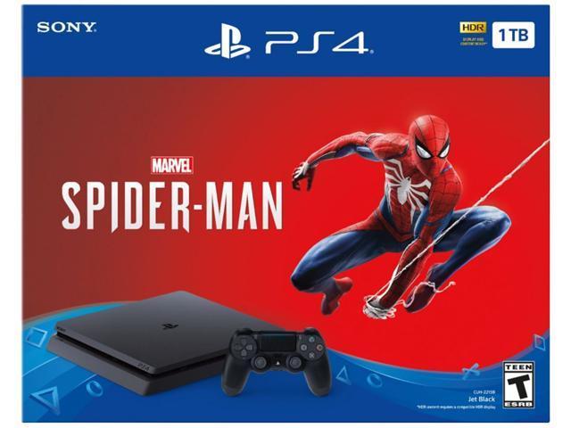 PlayStation 4 Slim 1TB Console - Marvel's Spider-Man Bundle - Newegg com
