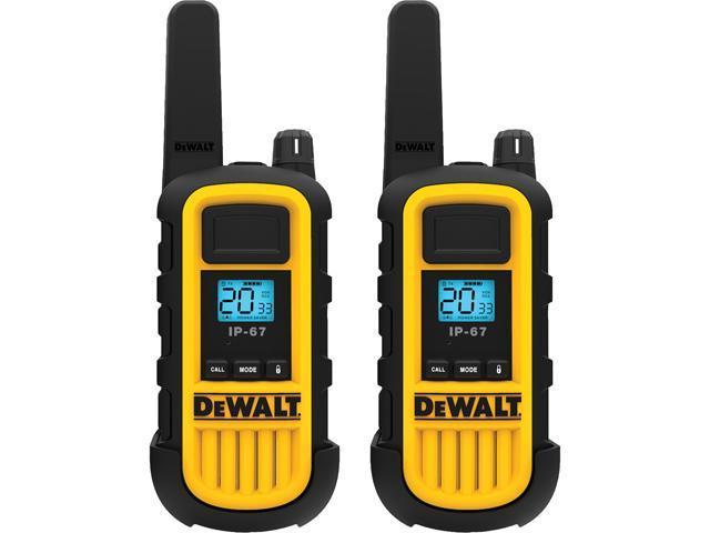 DEWALT DXFRS800 FRS 2-Way 2-Watt Radio Set (2-Pack) - Newegg com