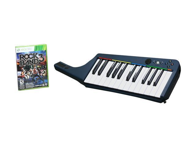 Rock Band 3 Keyboard Bundle Xbox 360 Game Xbox 360 Games
