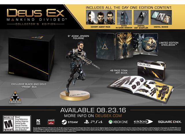 Deus Ex: Mankind Divided - Collector's Edition - Xbox One - Newegg com