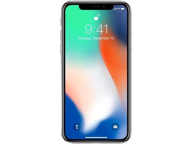 "Apple iPhone X 4G LTE Unlocked GSM Phone w/ Dual 12 MP Camera - (Used) 5.8"" Silver 64GB 3GB RAM"