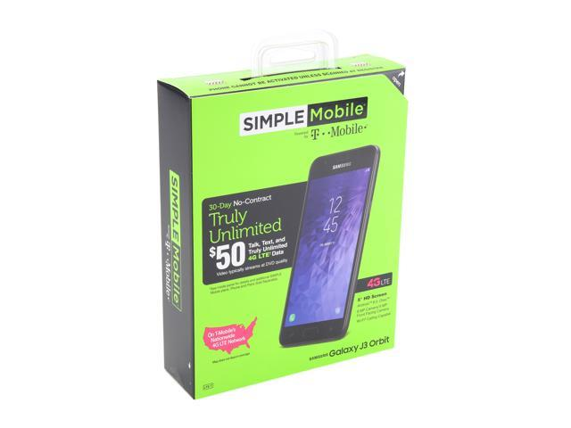 Samsung Galaxy J3 Orbit S367 Simple Mobile Prepaid Cell Phone - Newegg com