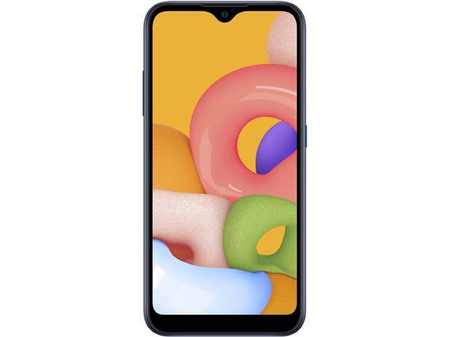 "Samsung Galaxy A01 A015M 4G LTE Dual Sim GSM Unlocked Phone (International Variant/US Compatible LTE) 5.7"" Blue 32GB 2GB RAM"