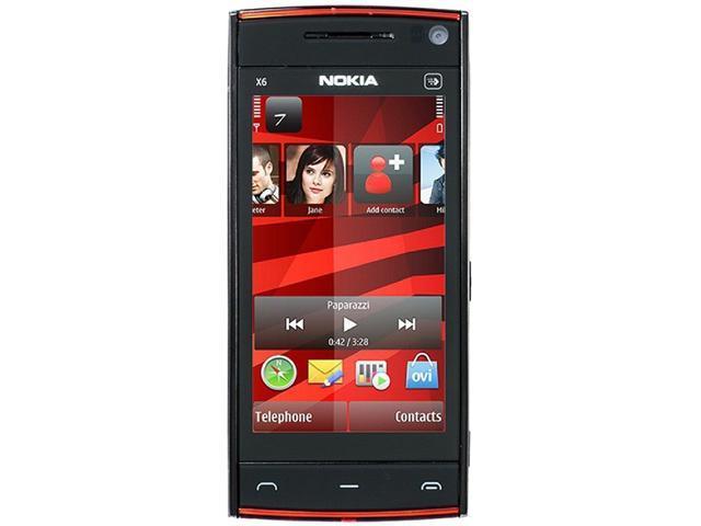 nokia x6 x6 00 3g 16gb unlocked gsm symbian os v9 4 cell phone 3 2 rh newegg com X6 Nokia Phone Nokia X6 00 Themes
