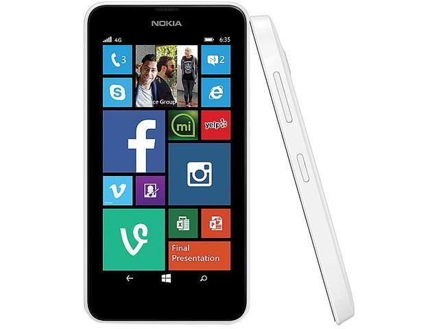 Nokia Lumia 635 (T-Mobile) LTE Quad-Core 1 2 GHz Cell Phone - Newegg com