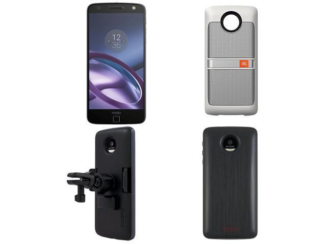 lowest price 1db4e d92dd Moto Z 64GB Lunar Gray Unlocked Smartphone, Tumi Wireless Charging Pack  Moto Mod, JBL Soundboost Speaker Moto Mod, & Incipio Vehicle Dock Moto Mod  - ...