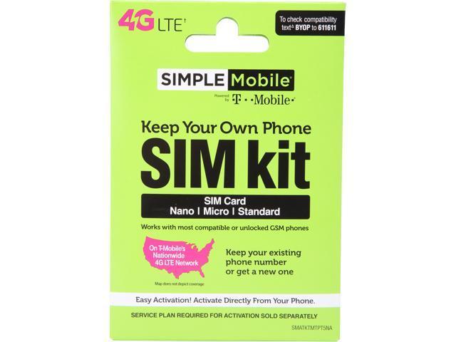 simple mobile byop sim kit sim card sizes include