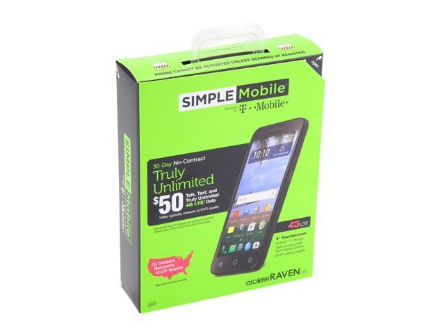 Alcatel Raven A574 Simple Mobile Prepaid Cell Phone - Newegg com